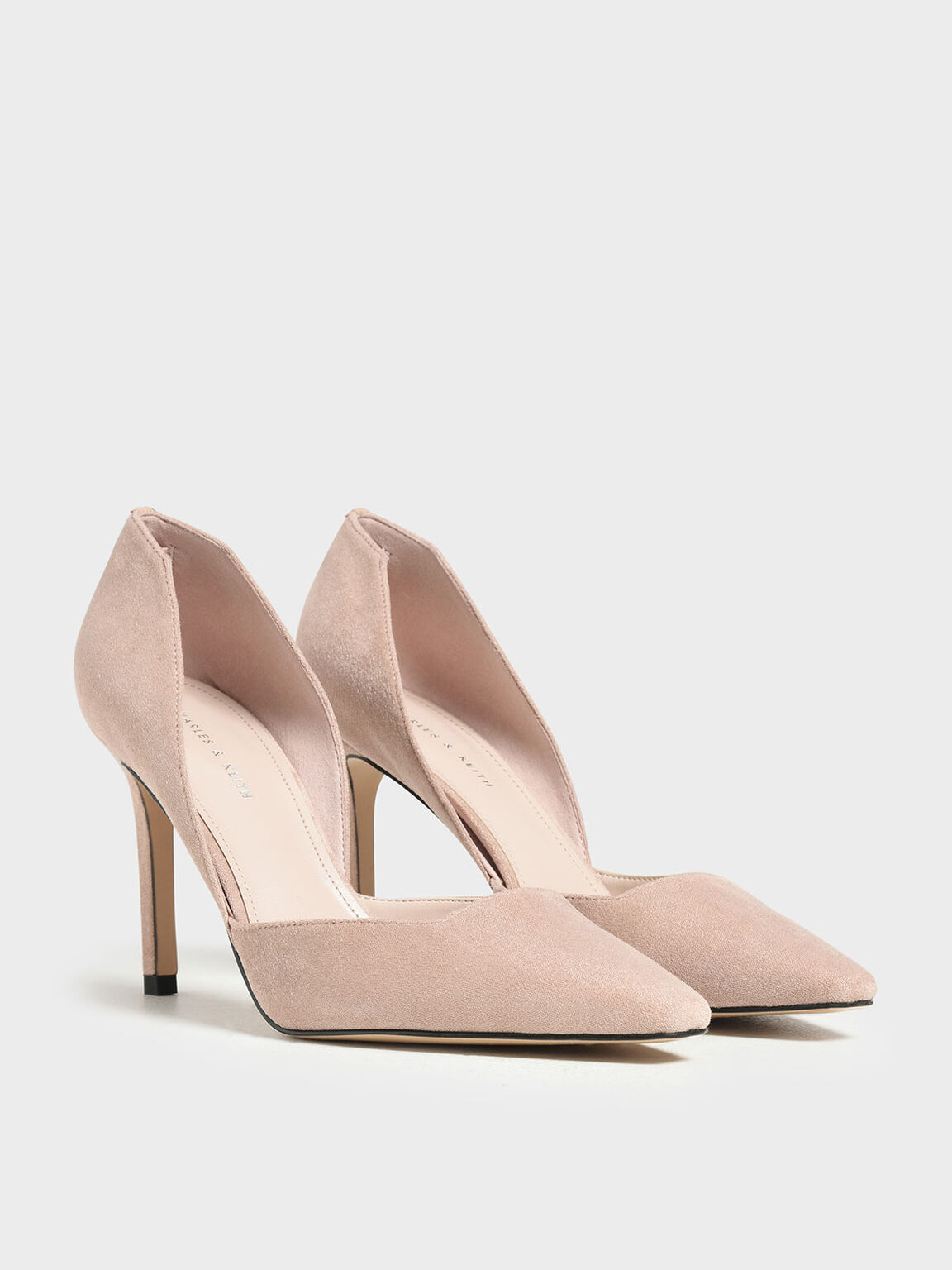 Classic D'Orsay Stiletto Pumps, Nude, hi-res