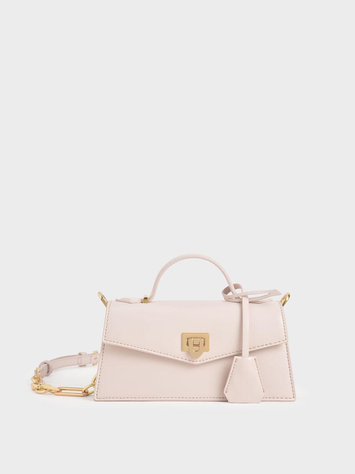 Trapeze Top Handle Bag, Pink, hi-res