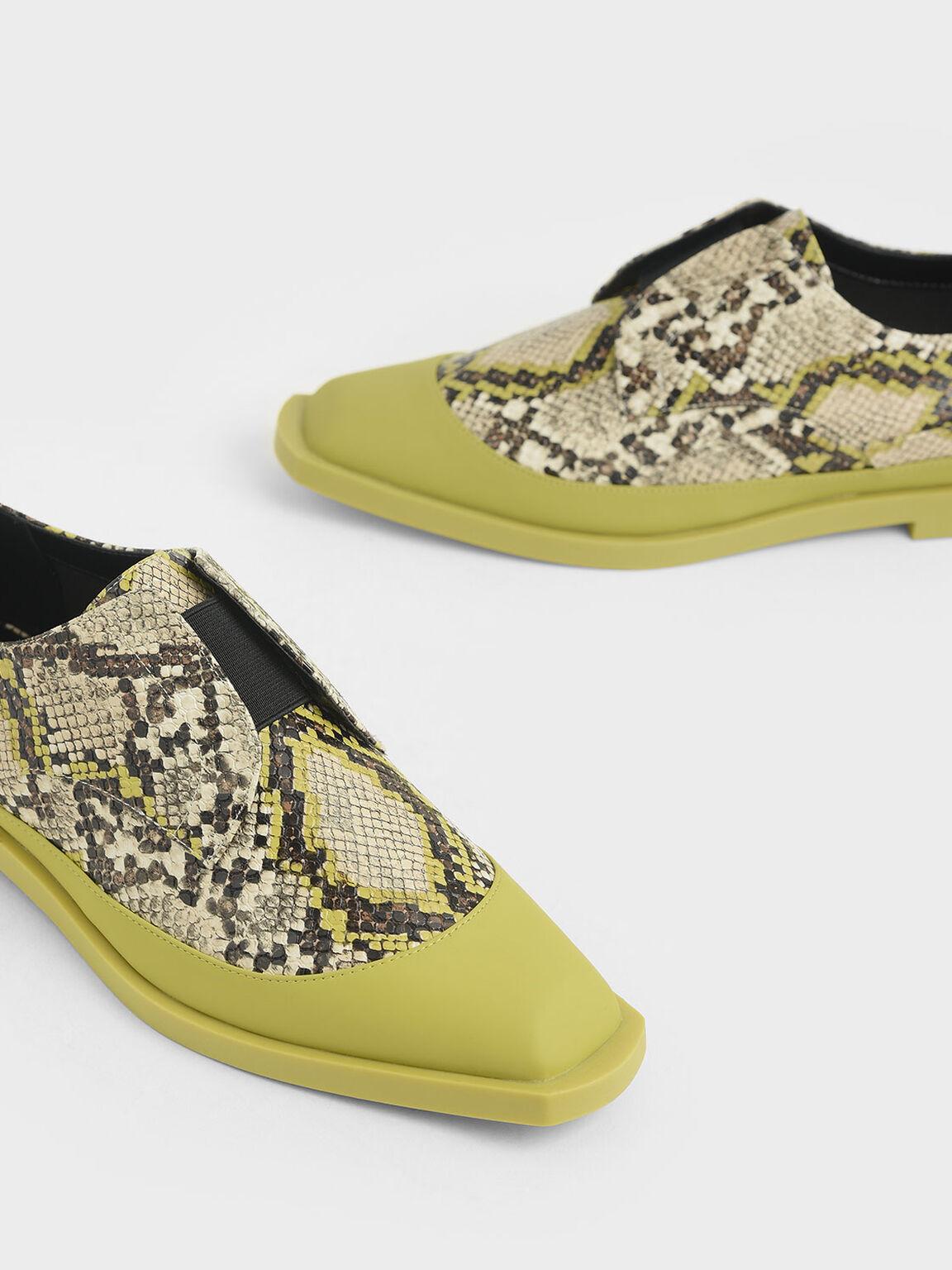 Snake Print Loafers, Multi, hi-res