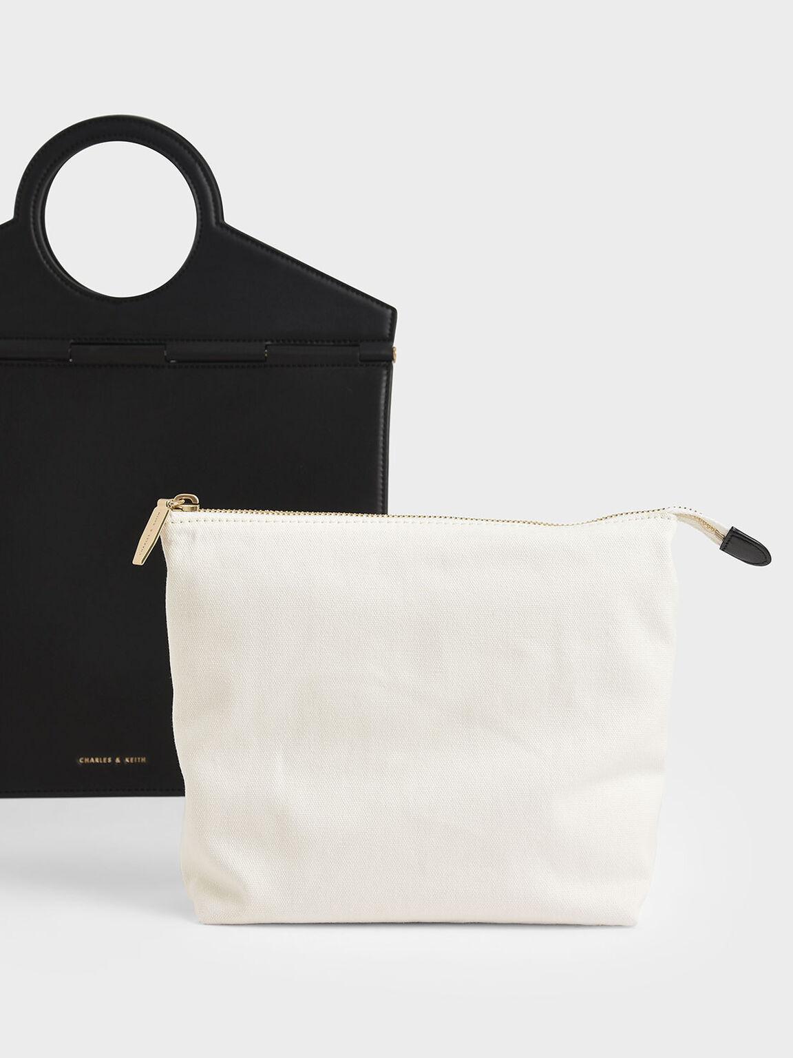 Geometric Tote Bag, Black, hi-res