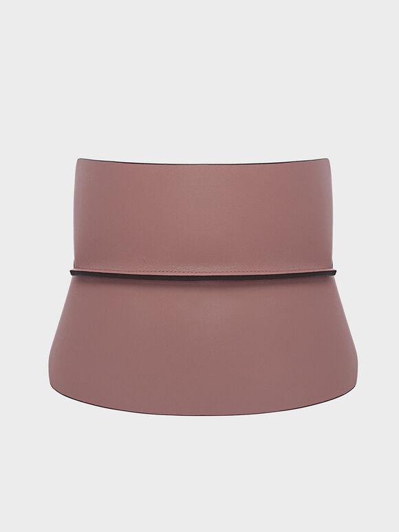 Wide Waist Belt, Mauve, hi-res