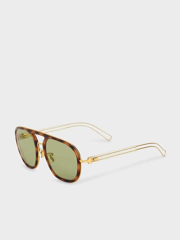 Double Bridge Tortoiseshell Sunglasses, T. Shell, hi-res