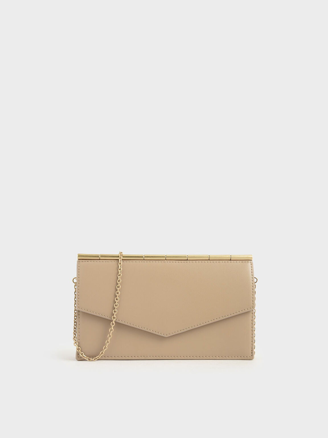 Mini Long Envelope Wallet, Beige, hi-res