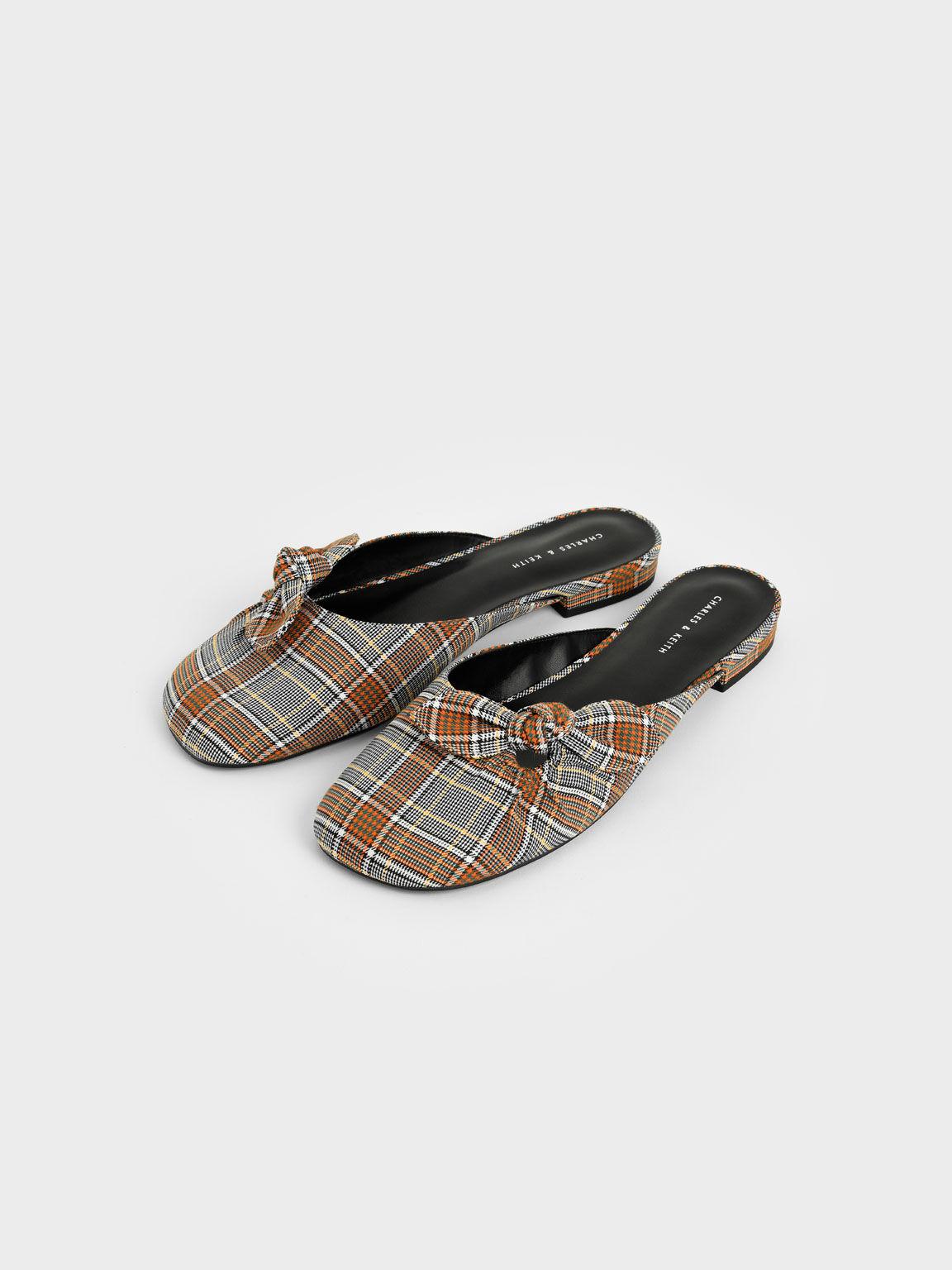 側扭結穆勒鞋, 灰色, hi-res