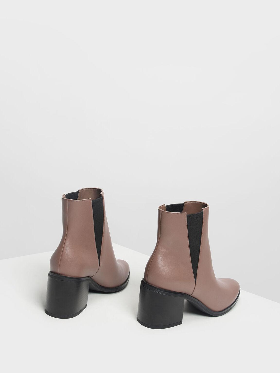 Classic Block Heel Boots, Mauve, hi-res