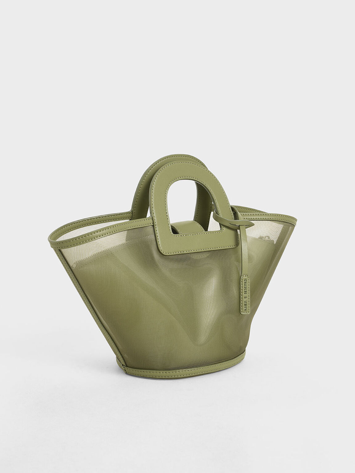 Mesh Trapeze Bag, Green, hi-res