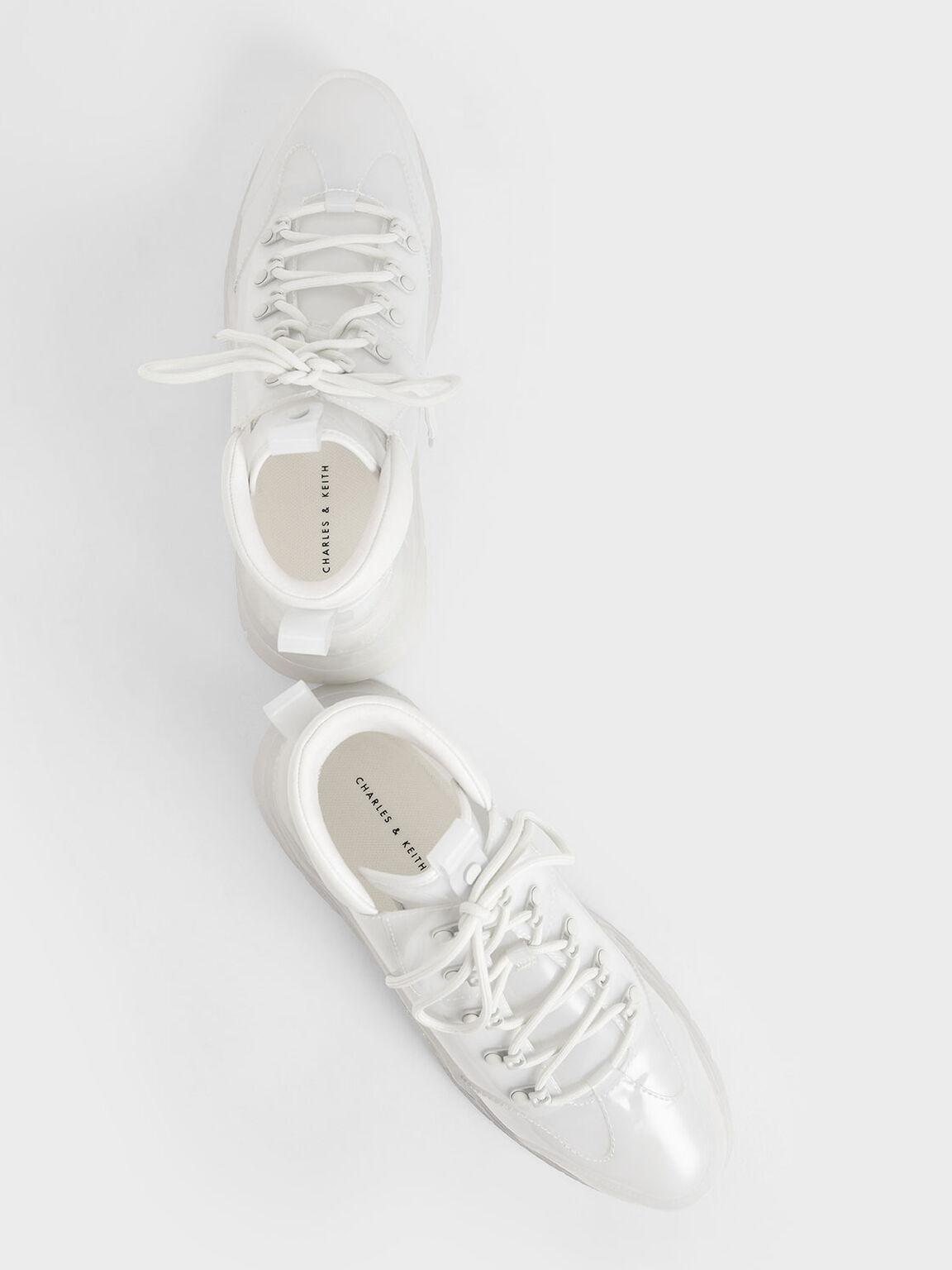果凍高筒厚底鞋, 白色, hi-res