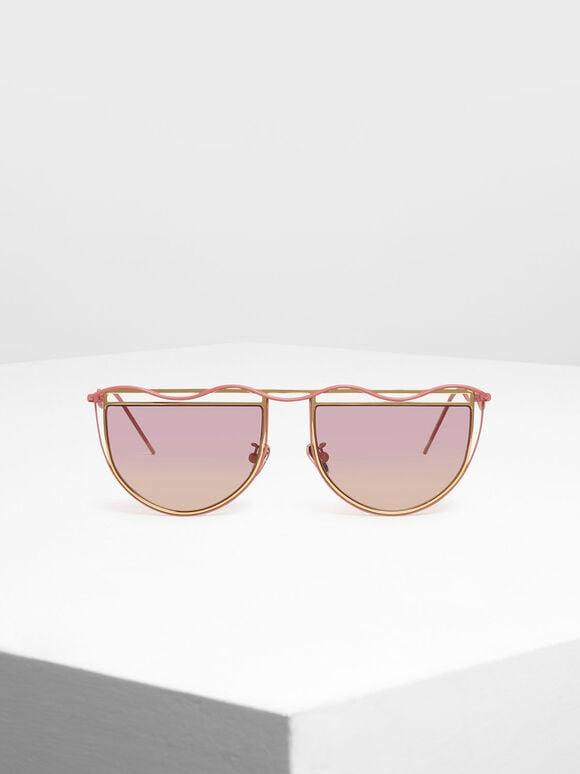 세미-서클 선글라스, Pink, hi-res