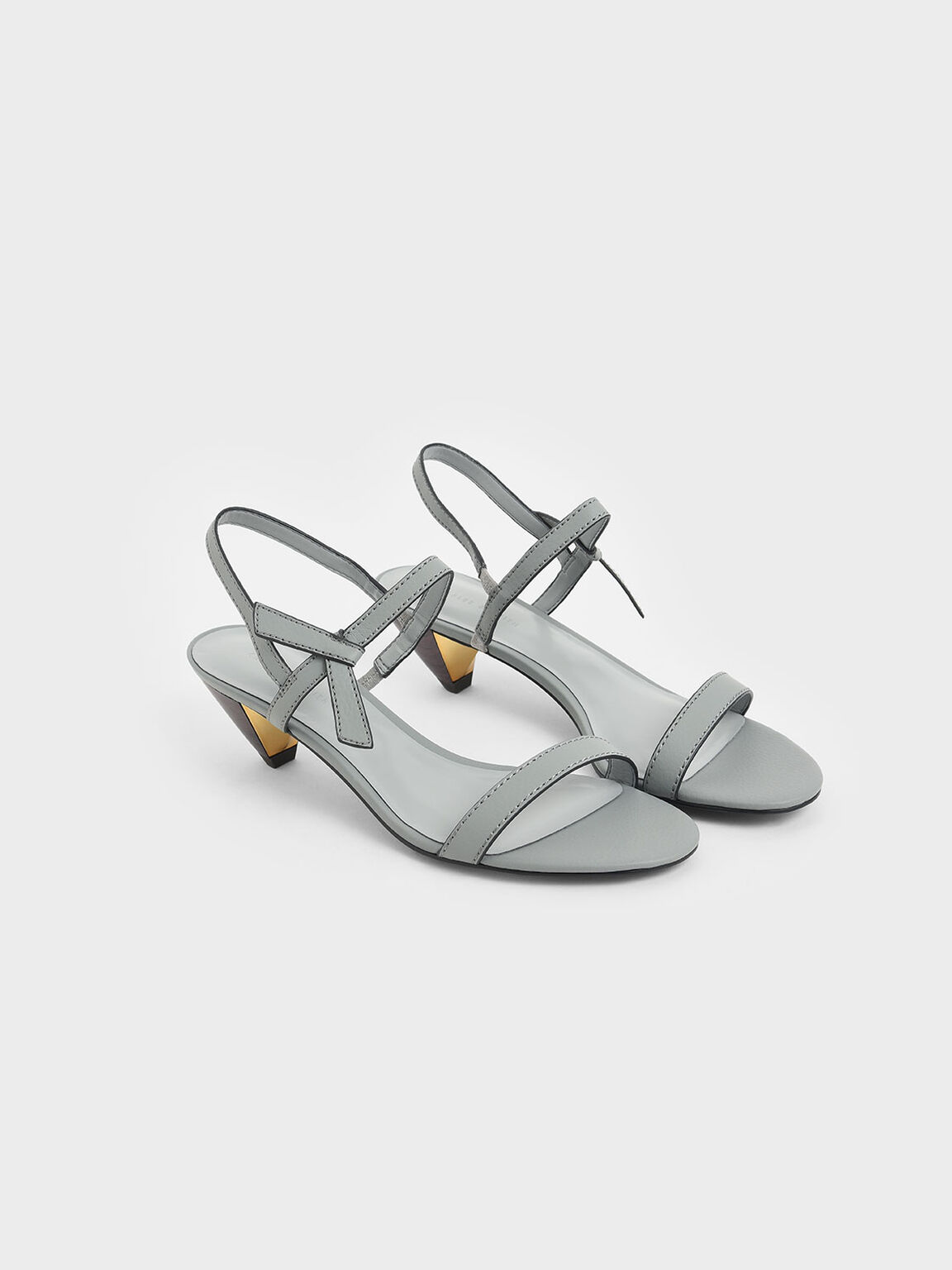 Knotted Bow Cone Heels, Light Blue, hi-res