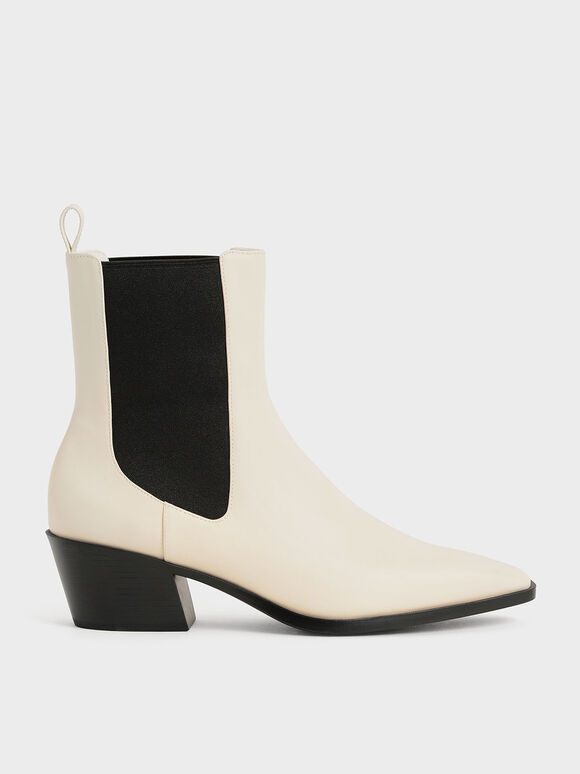 造型跟切爾西靴, 石灰白, hi-res