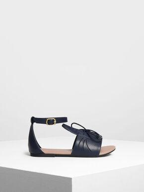 Kids Bunny Sandals, Dark Blue