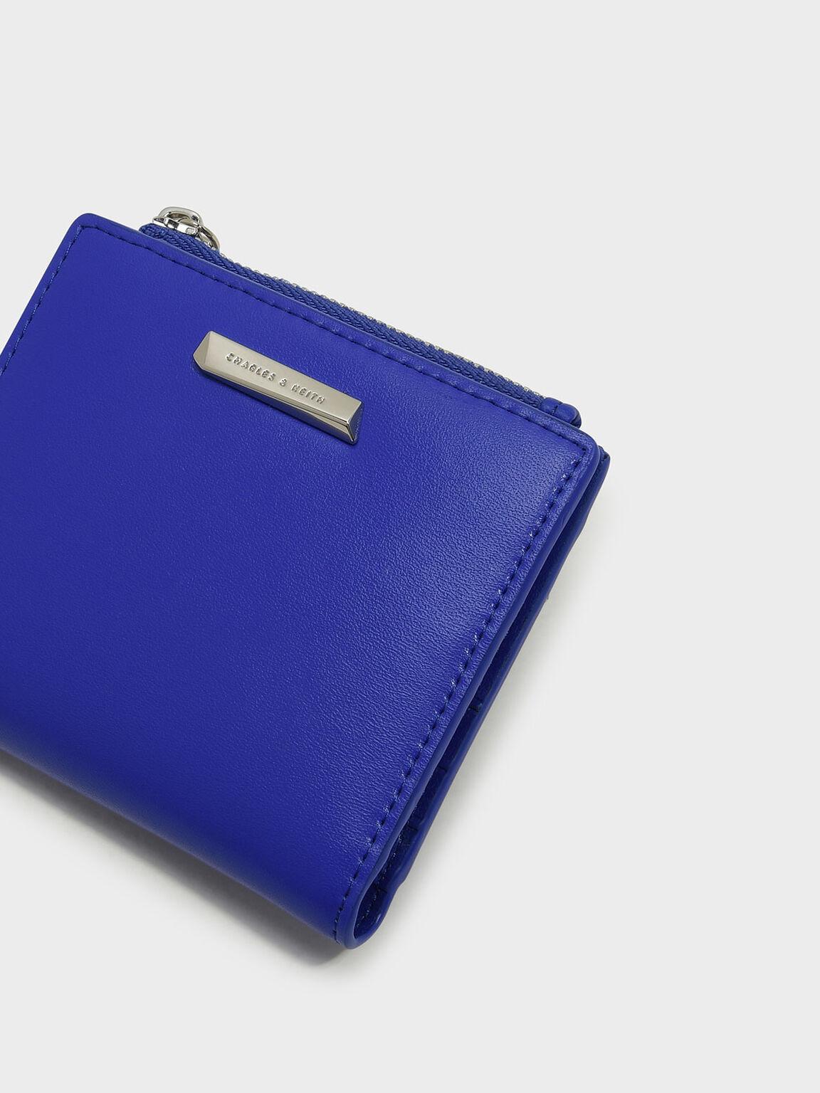 Basic Square Short Wallet, Blue, hi-res