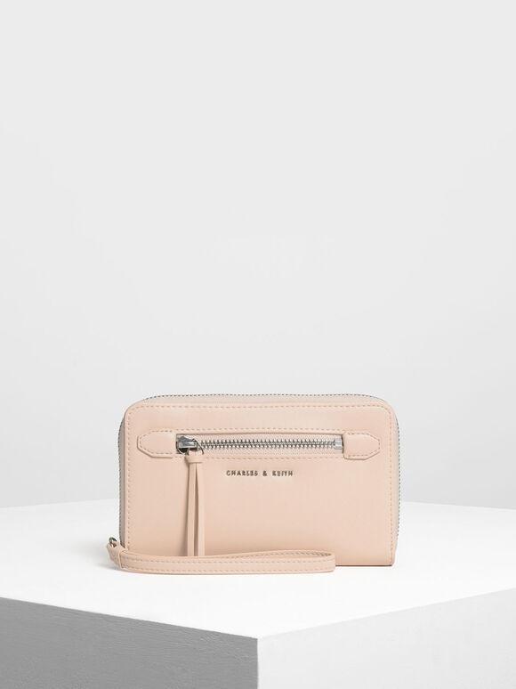 Zipped Wristlet, Pink, hi-res
