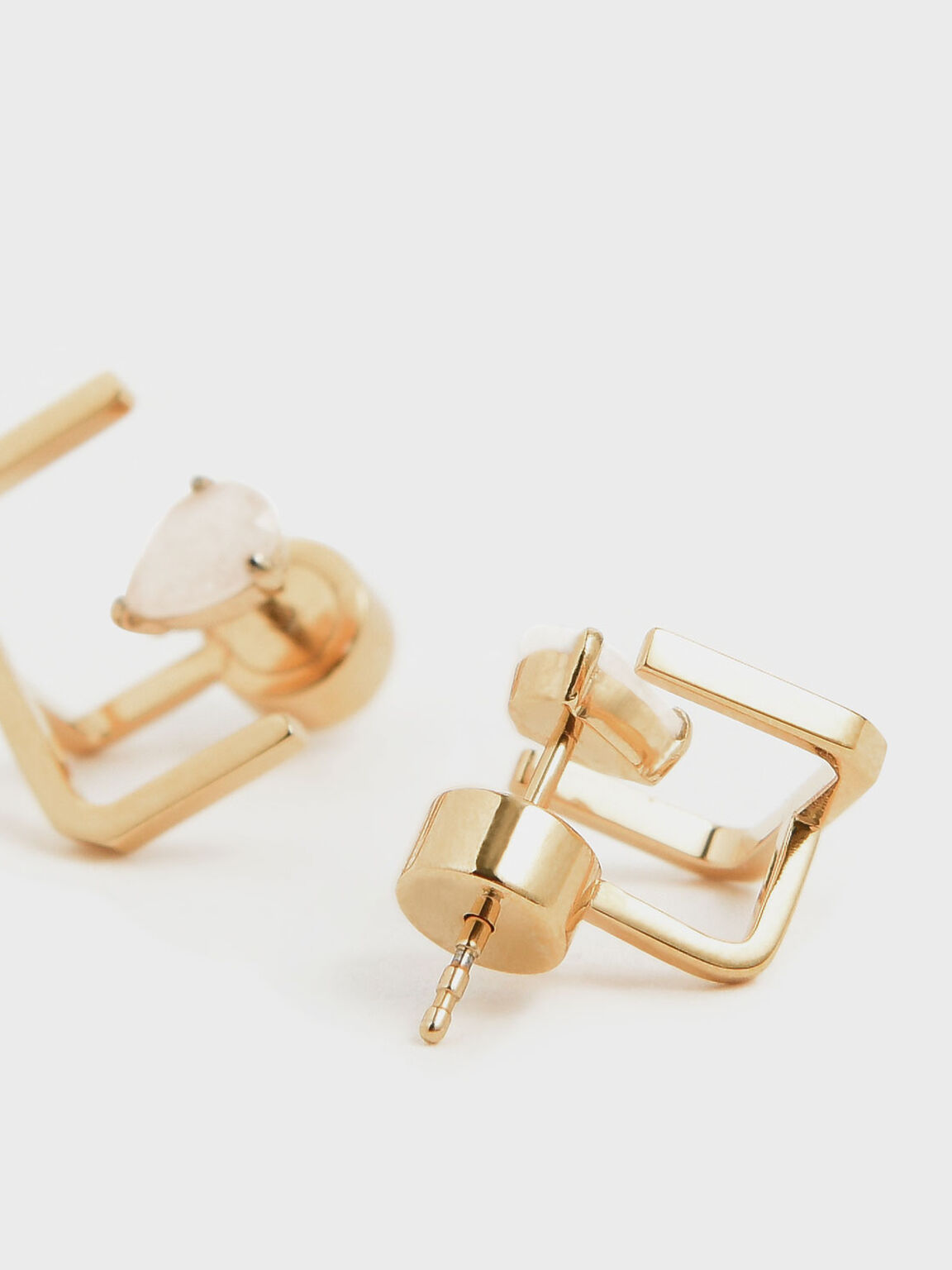 Moonstone Ear Climber Earrings, Gold, hi-res