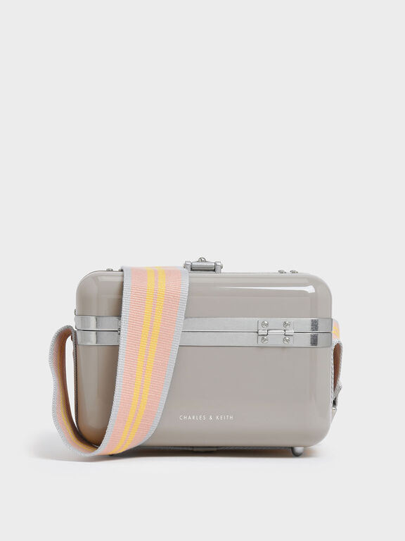 Acrylic Box Bag, Grey, hi-res