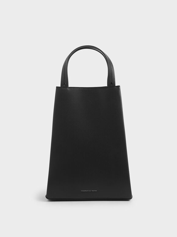 Elongated Top Handle Bag, Black, hi-res