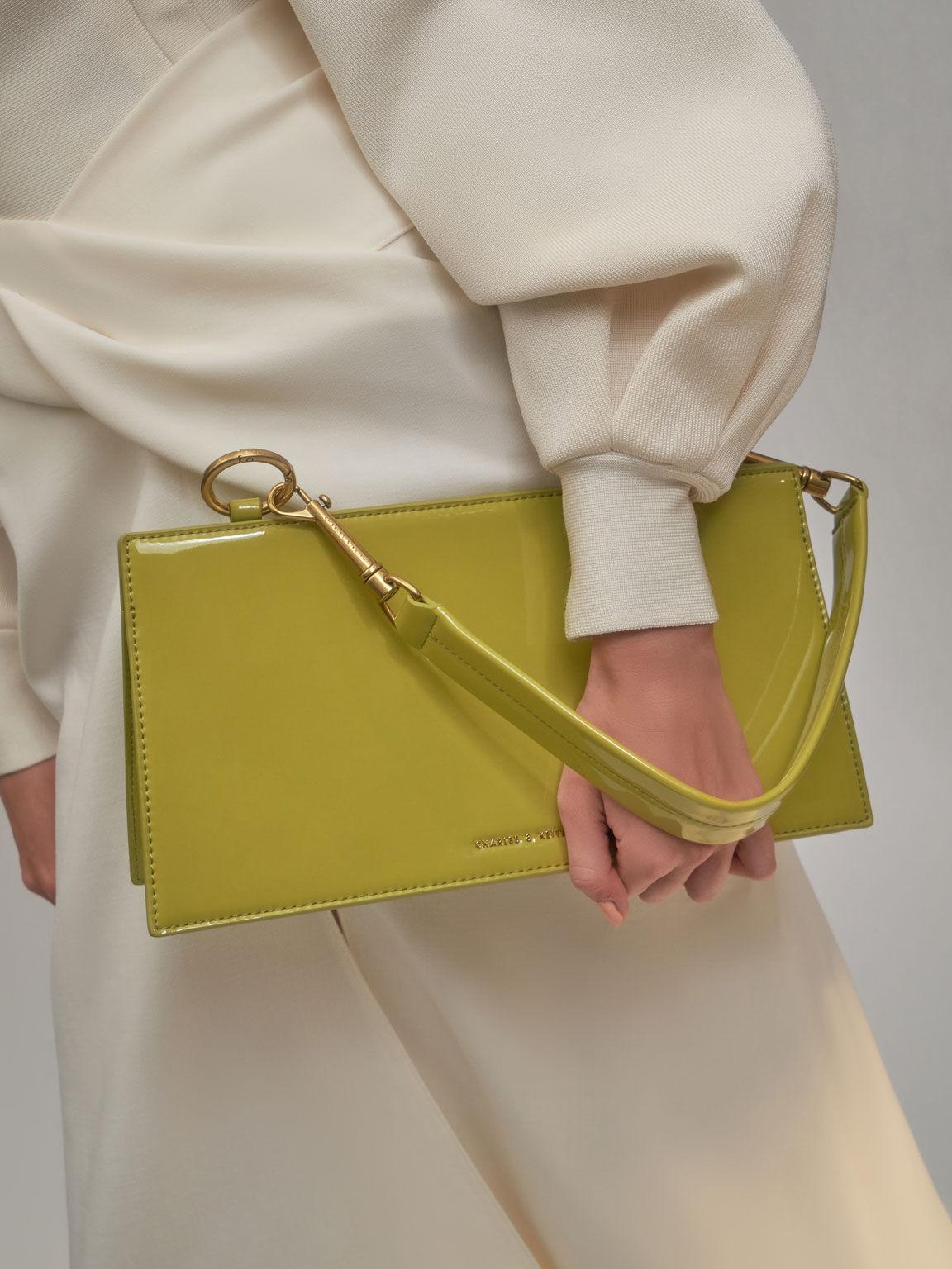 Ring Detail Shoulder Bag, Moss, hi-res