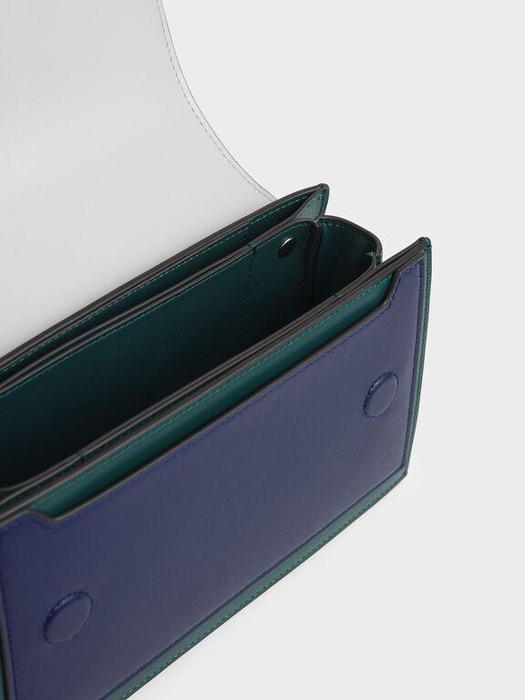Two-Tone Mini Clutch Bag, Green