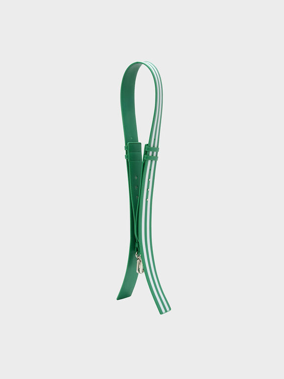 Elongated Detail Bag Strap, Green, hi-res