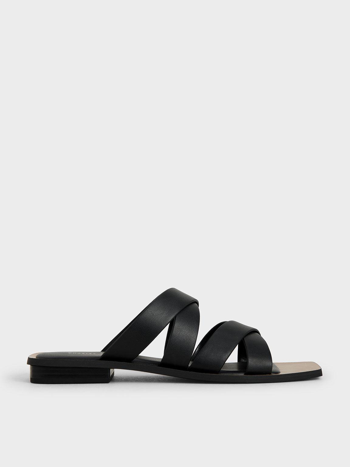 Double Crossover Slides, Black, hi-res