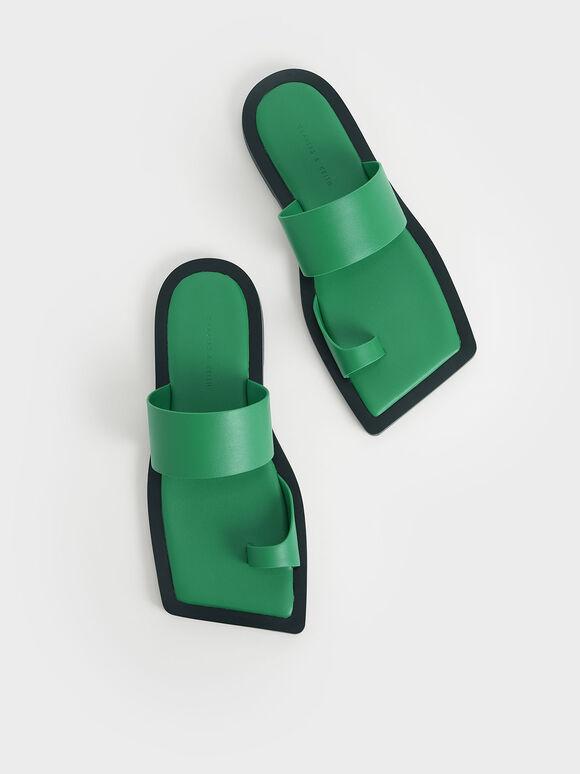 方頭趾環拖鞋, 綠色, hi-res