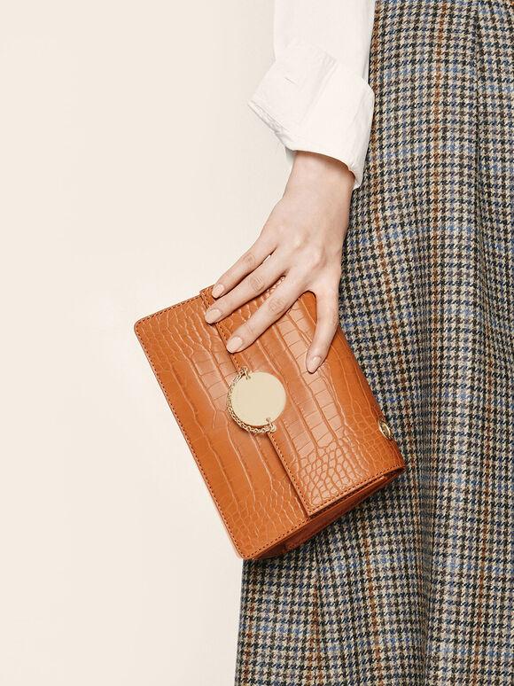 經典細鍊手拿包, 土黃色, hi-res