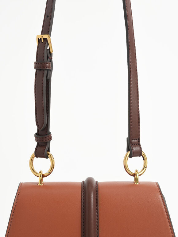 Coiled Top Handle Bag, Cognac, hi-res
