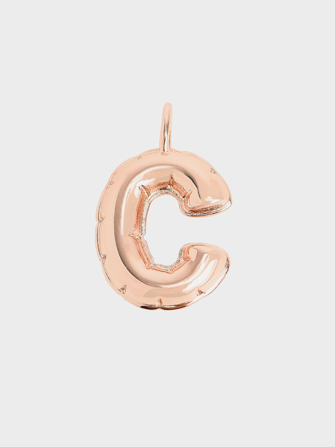 字母墜飾 - C, 玫瑰金, hi-res
