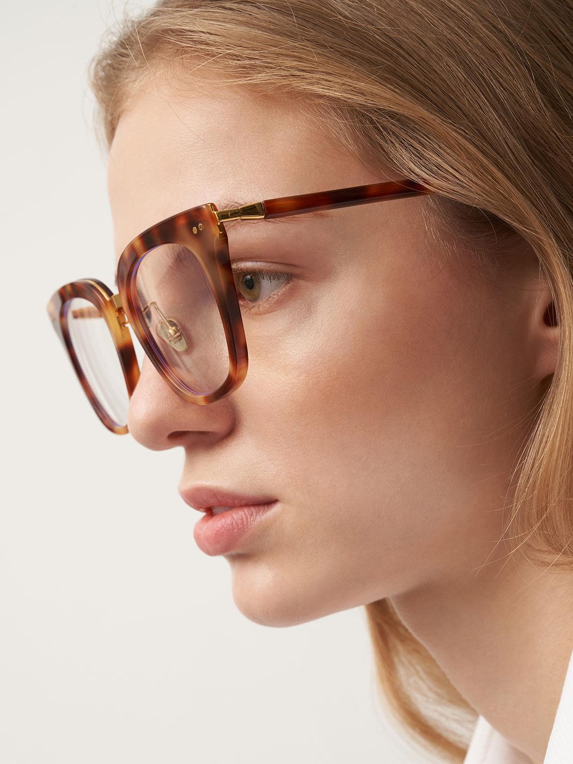 Acetate Tortoiseshell Square Blue Light Glasses, T. Shell, hi-res