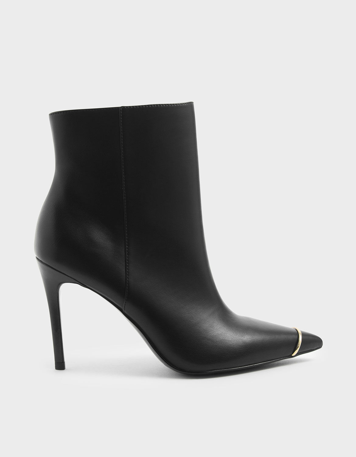 Black Metallic Accent Pointed Toe