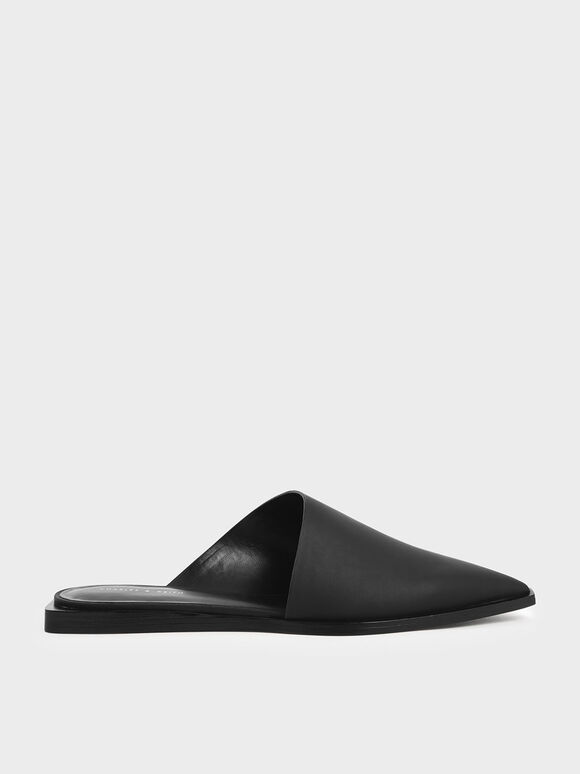 Asymmetric Mules, Black, hi-res