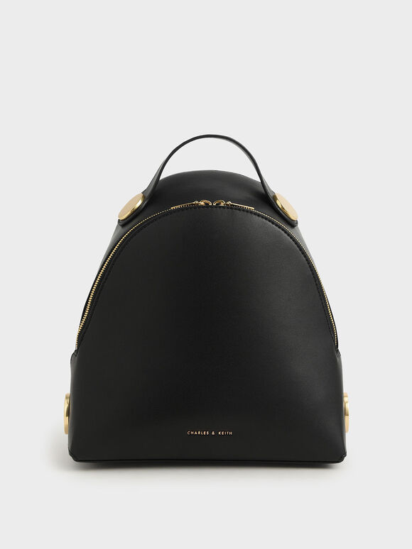 Large Dome Backpack, Black, hi-res