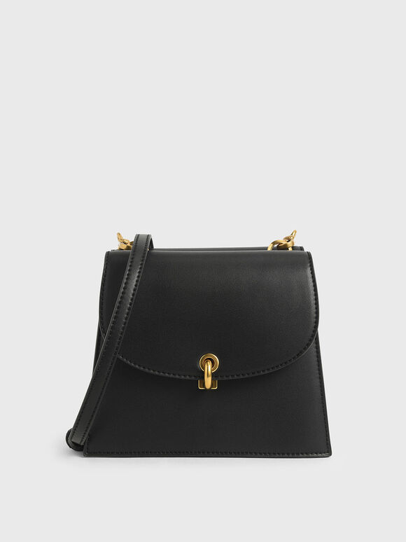 Mini Trapeze Crossbody Bag, Black, hi-res