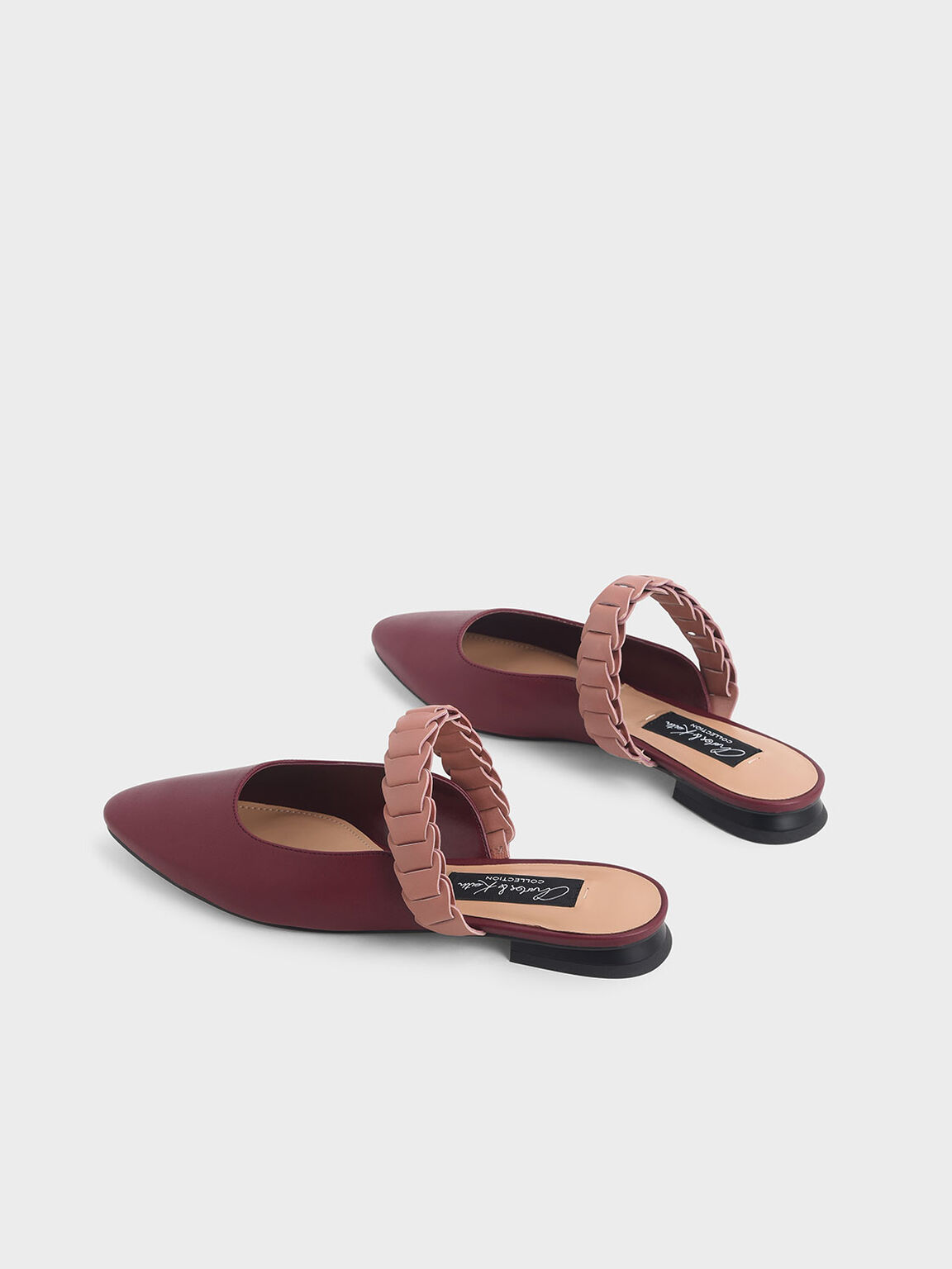Leather Pleated Strap Mules, Multi, hi-res