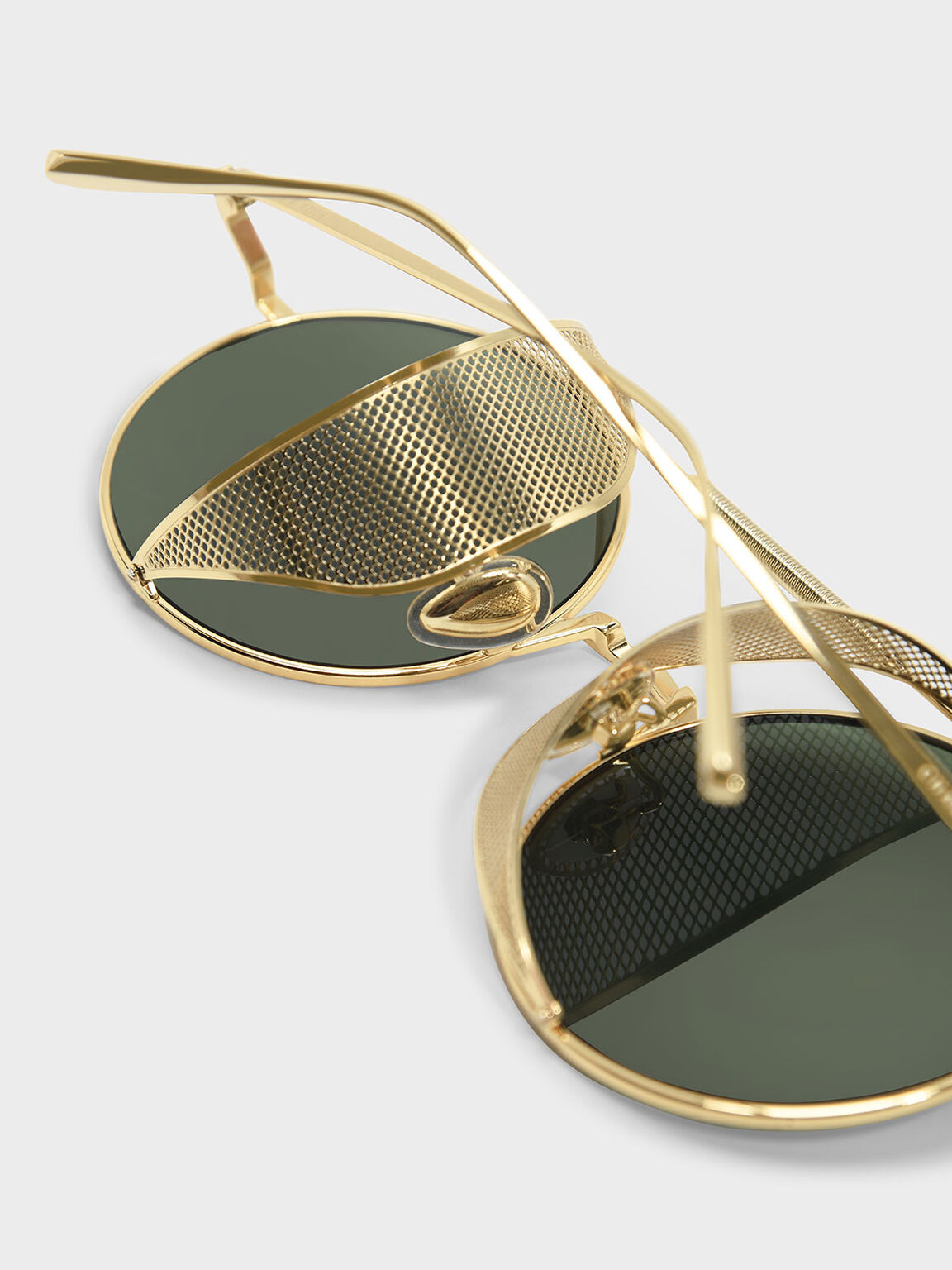 Mesh Detail Shades, Gold, hi-res