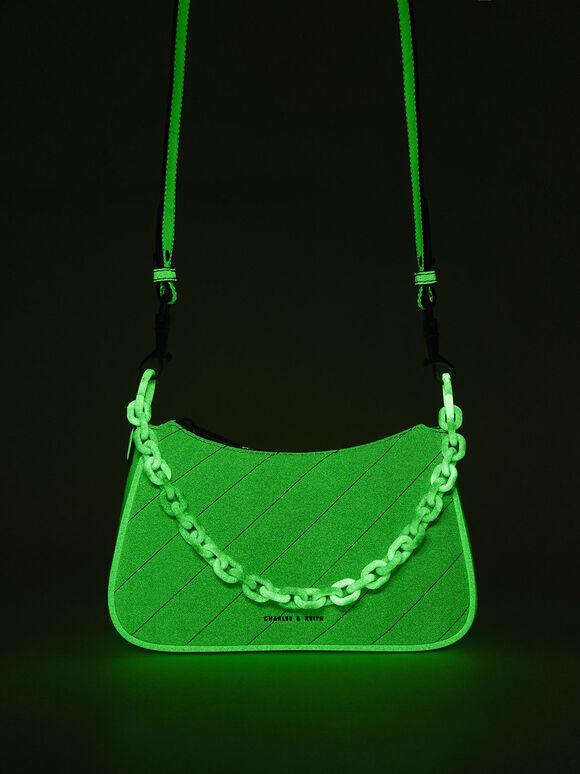 Glow-In-The-Dark Crossbody Bag, Sage Green, hi-res