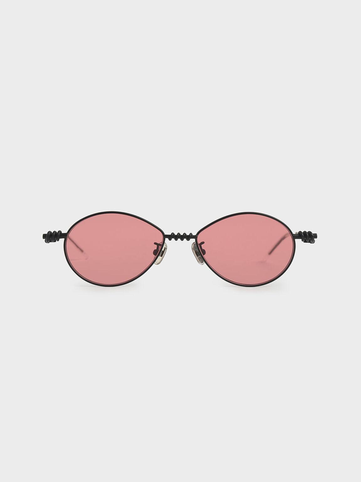 線圈橢圓墨鏡, 紅色, hi-res