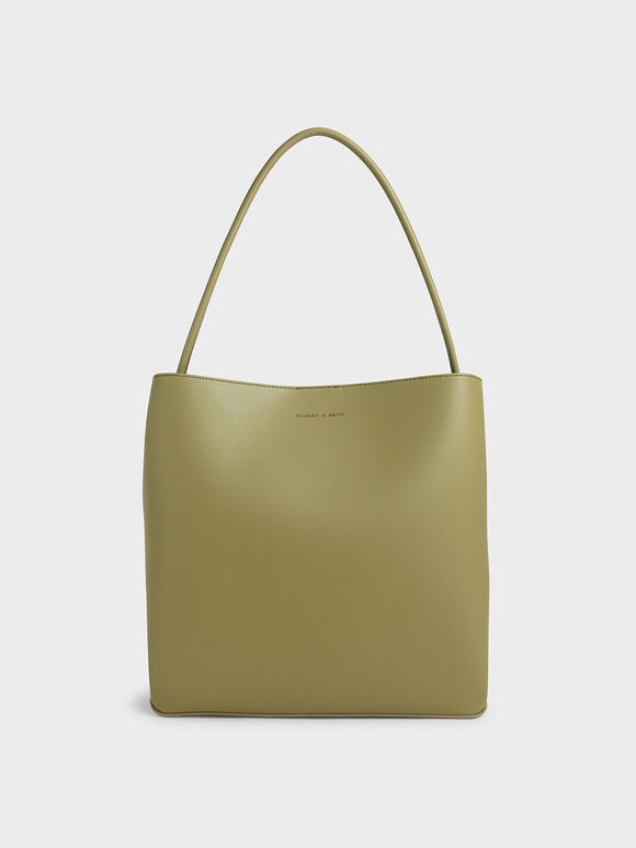 Double Handle Tote Bag, Sage Green, hi-res
