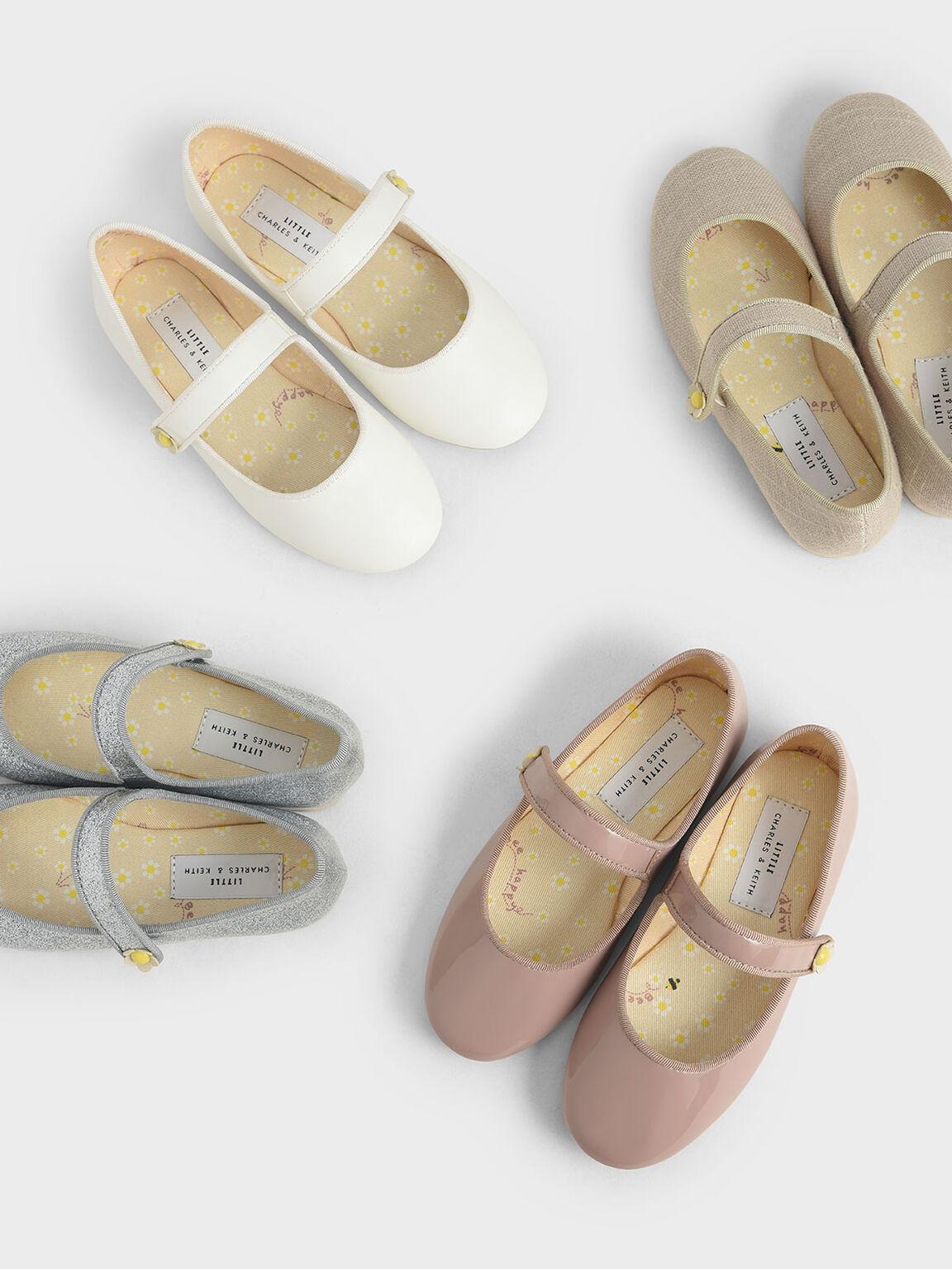 Girls' Patent Mary Jane Ballerinas, Mauve, hi-res