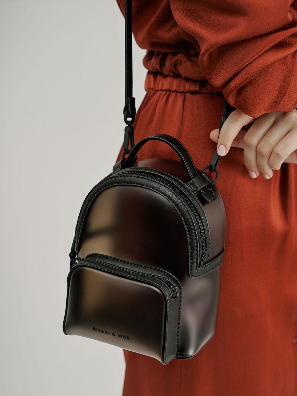 See-Through Backpack, Black, hi-res
