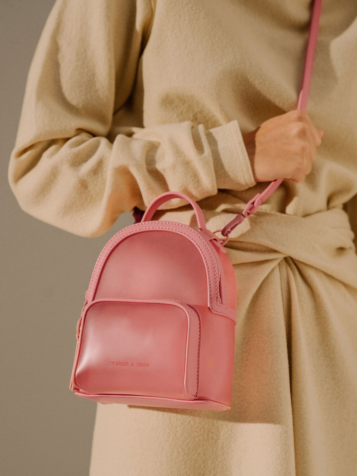 See-Through Backpack, Pink, hi-res