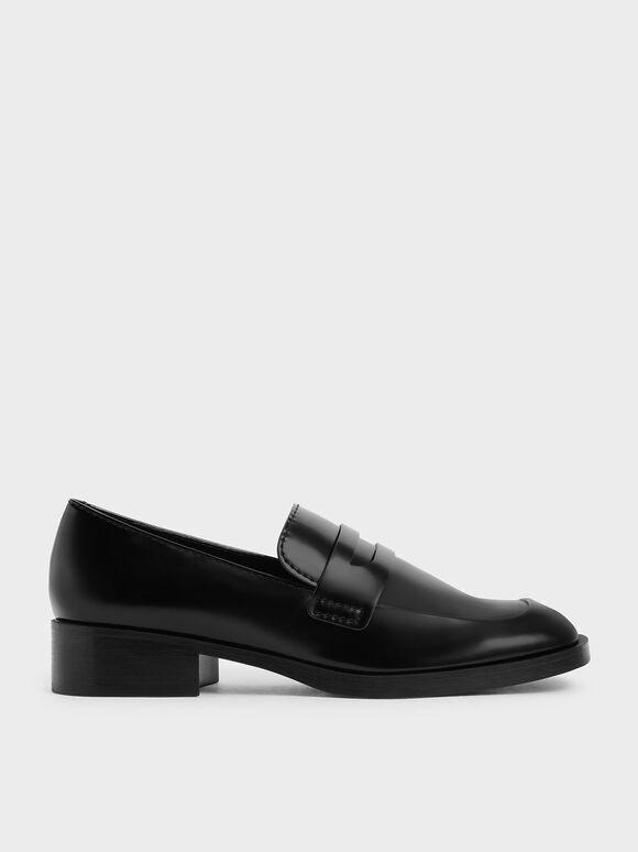 Penny Loafers, Black, hi-res