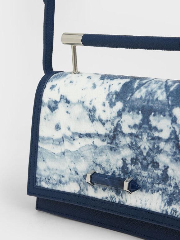 Metal Top Handle Bag, Multi, hi-res