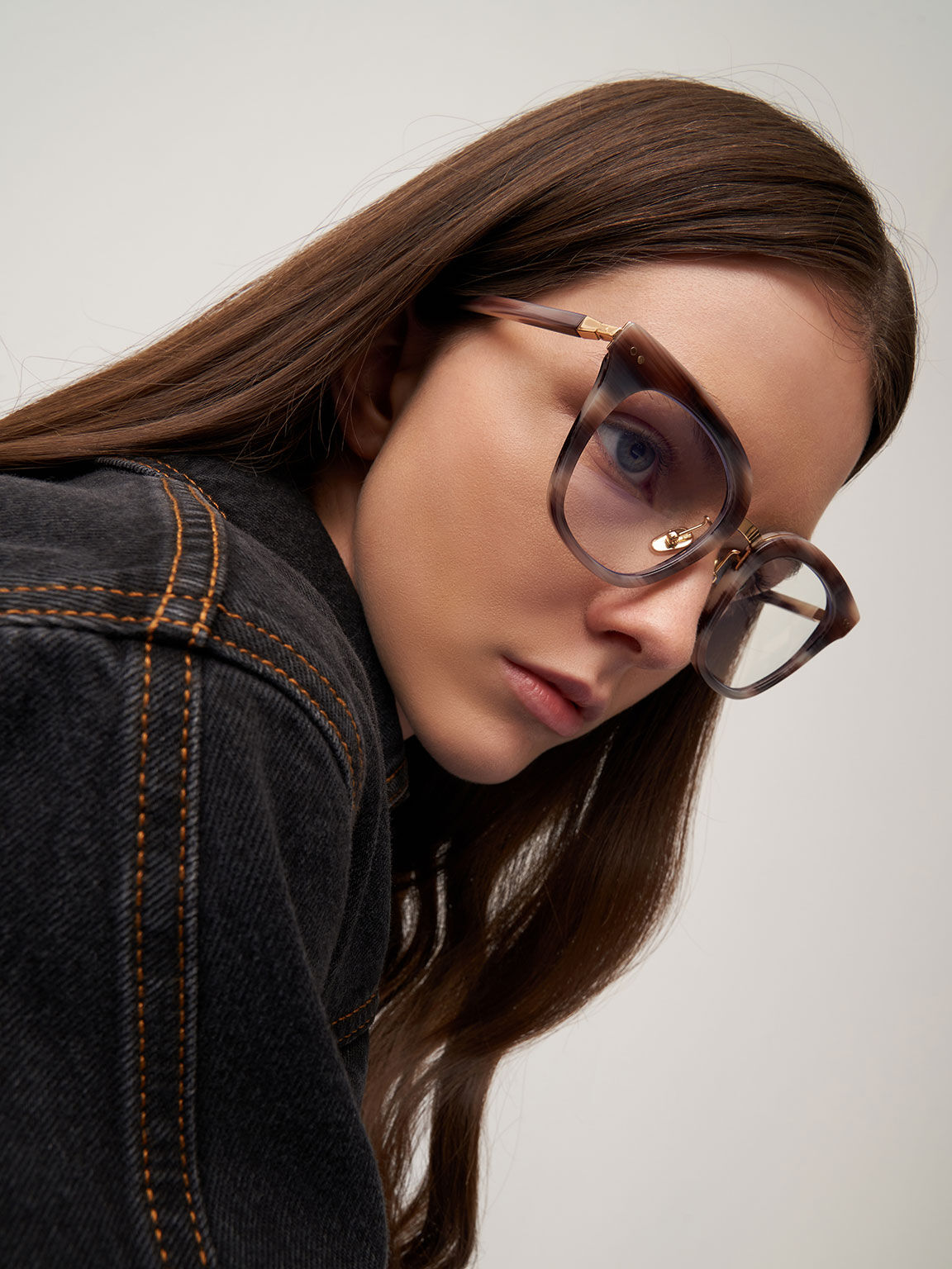 Acetate Square Blue Light Glasses, Pink, hi-res