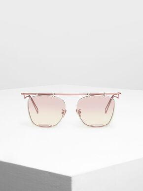 Metal Frame Aviators, Pink