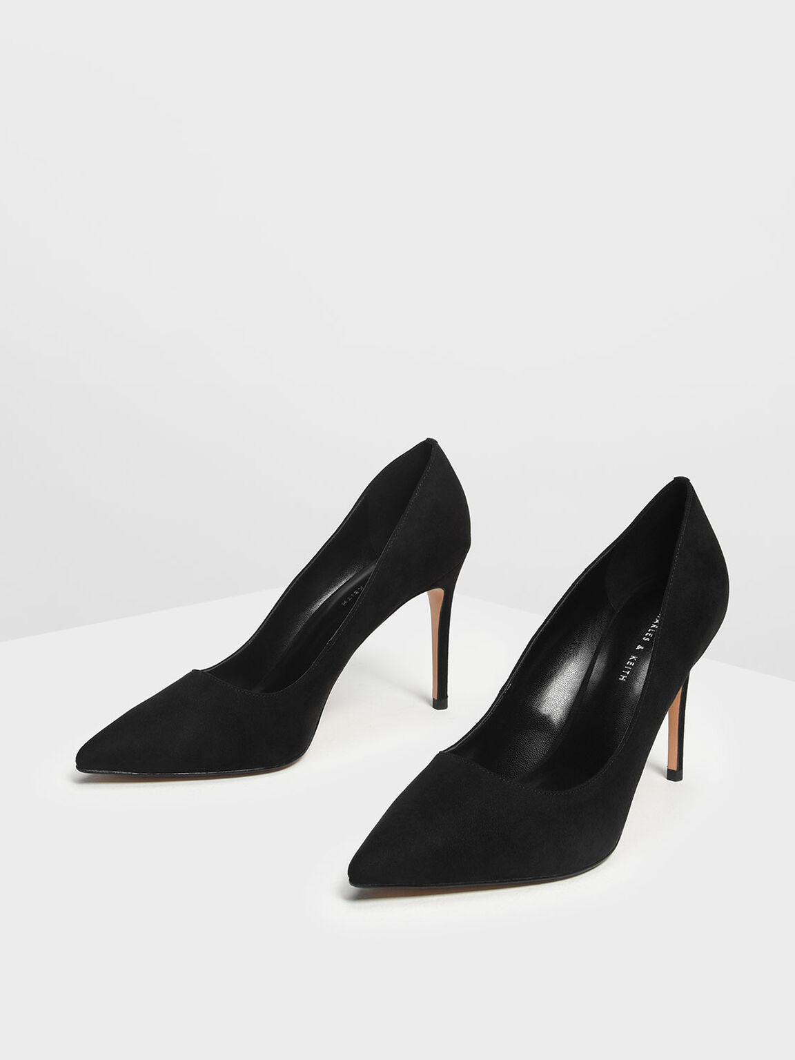 Classic Pointed Pumps, Black, hi-res