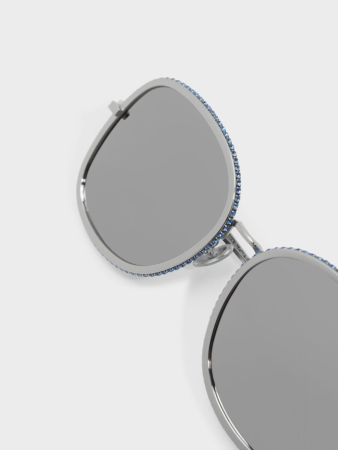 Embellished Sunglasses, Silver, hi-res