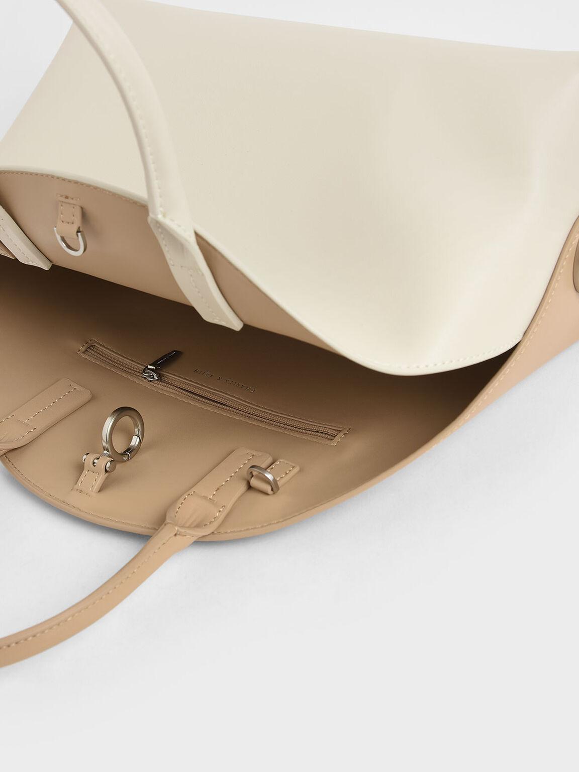 Large Dome Bag, Cream, hi-res