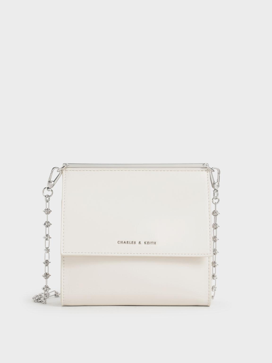Front Flap Boxy Bag, Chalk, hi-res