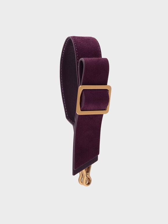 Buckled Bow Detail Mini Strap, Purple, hi-res